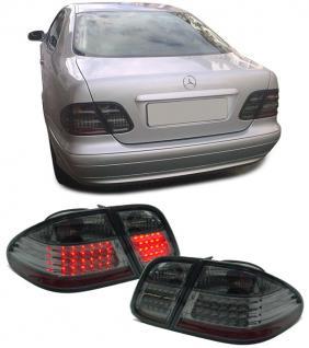 LED Rückleuchten schwarz chrom für Mercedes CLK C208 W208