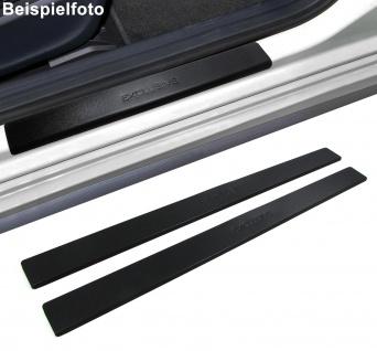 Edelstahl Trittschutz Einstiegsleisten Exclusive schwarz für Citroen C1 05-12