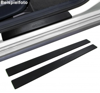 Edelstahl Trittschutz Einstiegsleisten Exclusive schwarz für VW Caddy 2K ab 03