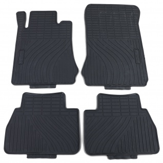 Premium Gummi Fußmatten Set Schwarz für Mercedes E-Klasse W210 S210 95-02