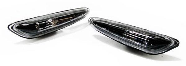 Klarglas Seitenblinker schwarz für BMW 3er E46 5er E60 E61 X3 - Vorschau 2