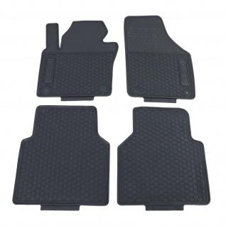 Premium Gummi Fußmatten Set 4-teilig Schwarz für VW Tiguan 5N 07-18