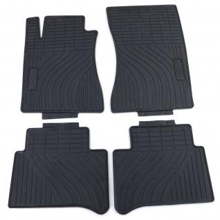 Premium Gummi Fußmatten Set Schwarz für Mercedes E-Klasse W211 S211 02-09