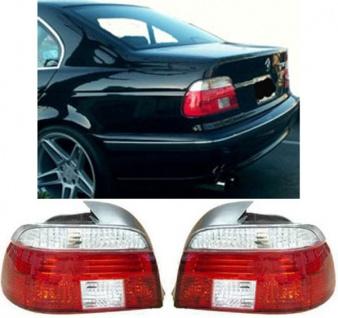 Klarglas Rückleuchten rot weiß Kristall für BMW 5er E39 Limousine 95-00