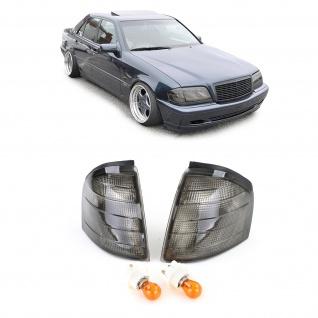 Blinker schwarz smoke Paar für Mercedes C Klasse W202 93-00