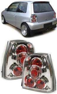 Klarglas Rückleuchten chrom für VW Lupo + Seat Arosa