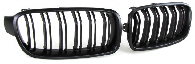 Sport Kühlergrill Nieren Doppelsteg schwarz matt für BMW 3er F30 F31 12-16