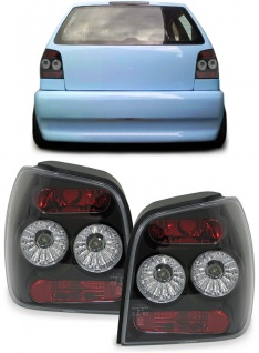 Klarglas Rückleuchten schwarz für VW Polo 6N2 99-01