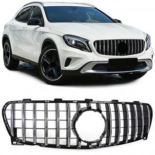 Sport Kühlergrill Grill Schwarz Chrom für Mercedes GLA X156 Facelift ab 17