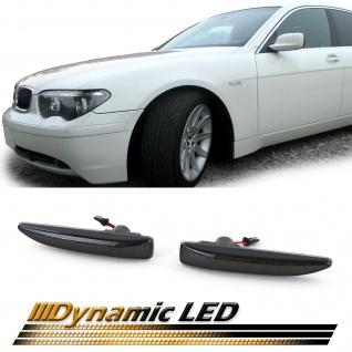 Dynamische LED Seitenblinker Schwarz für BMW 7er E65 E66 E67 01-09