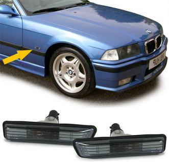 Klarglas Seitenblinker schwarz smoke Kristall für BMW 3ER E36 96-00 X5 E53 00-07 - Vorschau 2