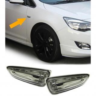 Seitenblinker schwarz Klarglas für Opel Astra J ab Bj.2010