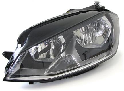 Scheinwerfer mit LWR Motor schwarz links für VW Golf 7 ab 12
