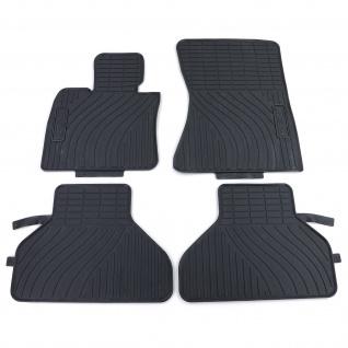 Premium Gummi Fußmatten Set 4-teilig Schwarz für BMW X5 E70 07-12