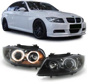 Angel Eyes H7 H7 Scheinwerfer schwarz für BMW 3ER E90 E91 05-08