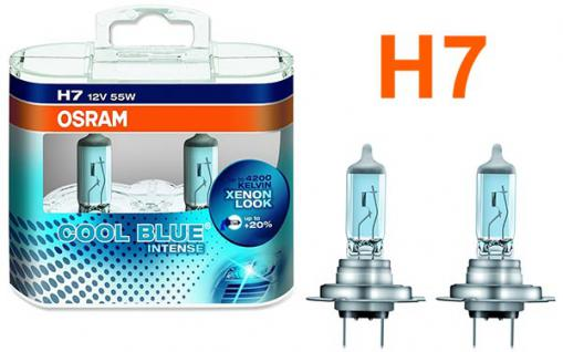Osram Cool Blue Intense H7 55W 12v Halogen 2 Stück IM Duopack