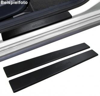 Edelstahl Einstiegsleisten Exclusive schwarz für Renault Kangoo 05-07