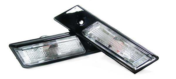 Klarglas Seitenblinker schwarz chrom für BMW 3er E36 90-96 E34 88-96