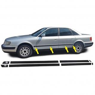 Stoßleisten Zierleisten Türleisten Set für Audi 100 C4 90-94