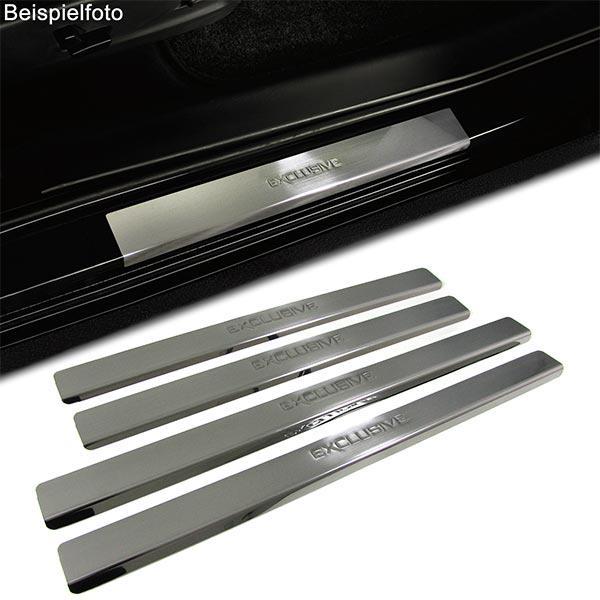 Einstiegsleisten Schutz Edelstahl Exclusive für Nissan Micra 3 K12 4Türer 03-10 - Vorschau 2