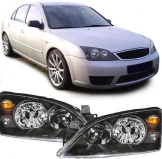 Klarglas Scheinwerfer schwarz für Ford Mondeo 00-07