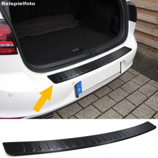 Ladekantenschutz Stoßstangenschutz Edelstahl Carbon für Mercedes C Klasse S205