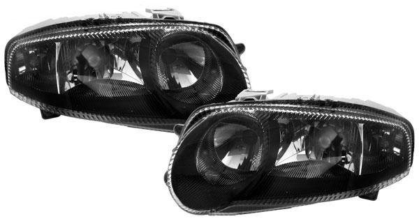 Schwarze Klarglas Scheinwerfer für ALFA Romeo 147