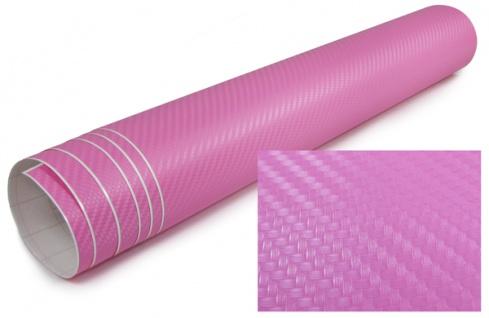 3D Carbon Folie selbstklebend 30cm *1.27 Meter rosa pink