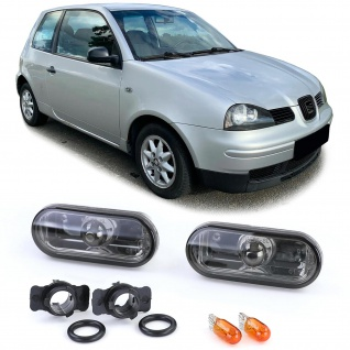 Klarglas Seitenblinker Black Chrome für Ford Fusion Galaxy Seat Alhambra Arosa