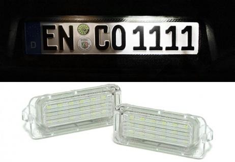 LED Kennzeichenbeleuchtung weiß 6000K für Ford Fiesta Fusion Mondeo 5D