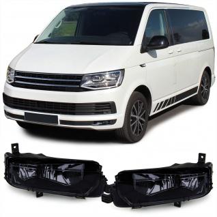 Klarglas Nebelscheinwerfer schwarz smoke für VW T6 Multivan Transporter ab 15