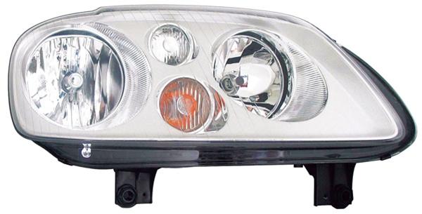 H7 / H7 Scheinwerfer chrom rechts TYC für VW Touran 1T 03-06