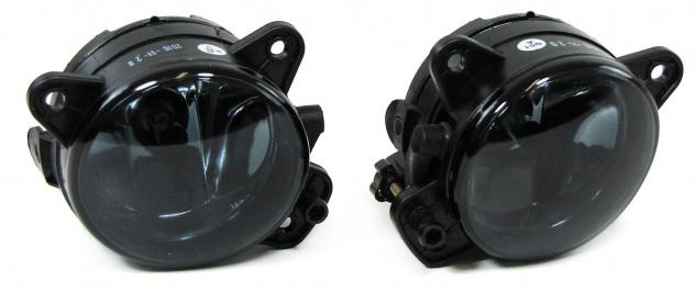 Klarglas Nebelscheinwerfer HB4 schwarz smoke Paar für VW T5 Crafter Polo 9N3