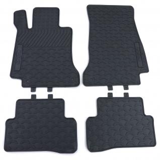 Premium Gummi Fußmatten Set Schwarz für Mercedes C-Klasse W205 S205 ab 14