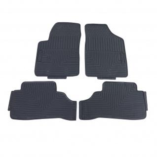 Premium Gummi Fußmatten Set 4-teilig Schwarz für Hyundai i10 PA 07-13