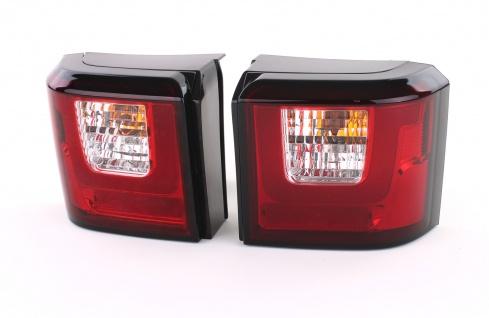 LED Lightbar Rückleuchten Rot Klar Paar für VW T4 Bus Transporter 90-03