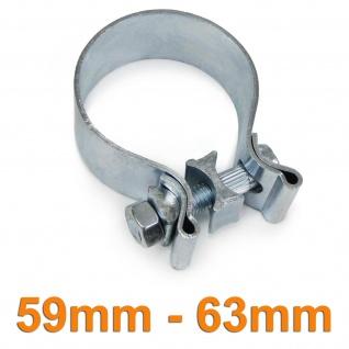 Auspuffschelle Rohrschelle Breitbandschelle universal verstellbar 59mm - 63mm