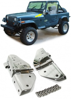Scheibenrahmen Schaniere Edelstahl für Jeep CJ5 CJ7 Wrangler YJ 76-96