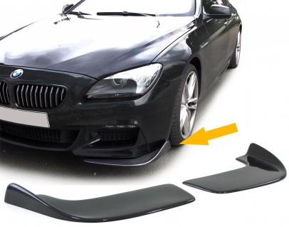 Front Spoilerecke Front Flaps Cup Wings flach universal Carbon