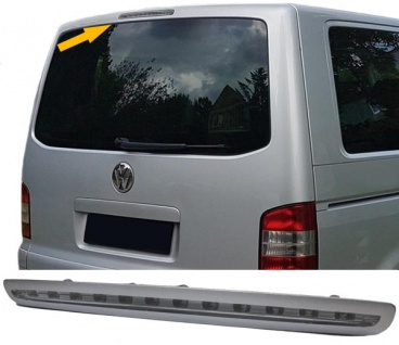 3. LED BREMSLEUCHTE KLARGLAS CHROM FÜR VW T5 Bus Transporter ab 2003