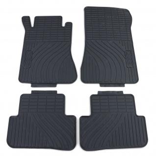 Premium Gummi Fußmatten Set Schwarz für Mercedes C-Klasse W203 S203 00-07