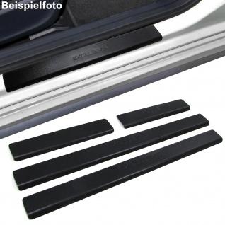 Edelstahl Trittschutz Einstiegsleisten Exclusive schwarz für Opel Vectra C ab 02