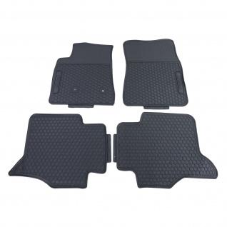 Premium Gummi Fußmatten Set Schwarz für Mitsubishi Pajero 4 ab 07