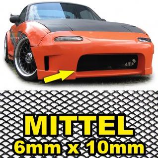 Aluminium Gitter Renngitter Wabengitter Racegitter 100X40cm 6x10mm Schwarz