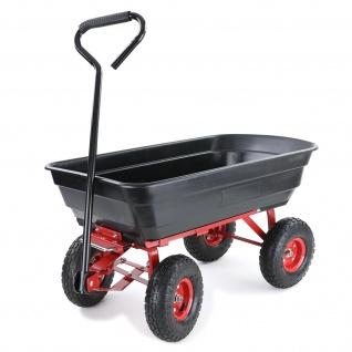 Transportwagen Gartenwagen Schubkarre Handwagen Kippfunktion 250 kg Schwarz Rot