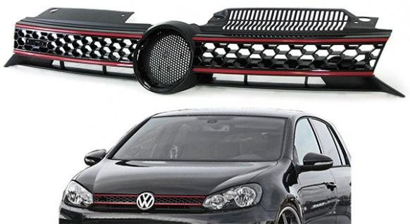 Grill Kühlergrill mit Waben IN Sport Optik für VW Golf 6 1K ab 08 - Vorschau 1
