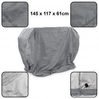 Premium Grillabdeckung Schutzhülle Cover BBQ Grill Schutz Grau M 145x117x61cm