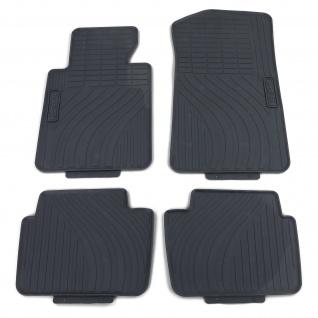 Premium Gummi Fußmatten Set Schwarz für BMW 3er E46 Limousine Touring 98-05