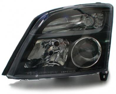 Klarglas Scheinwerfer schwarz links für Opel Vectra C + Signum