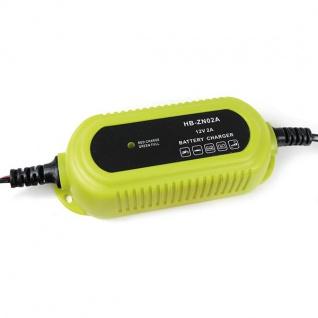 Batterieladegerät Batterieerhaltunsgerät 12 Volt Gelb für PKW Kfz Motorrad Boot - Vorschau 3